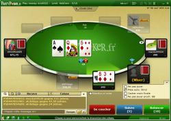 Poker gratuit ou payant : les salles de poker, tournois de la salle de poker Partypoker poker table