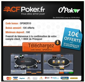 bonus gratuit de poker ACFPoker