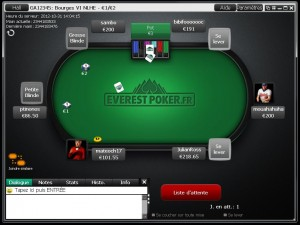 table Everest Poker.fr