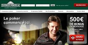 Code promotionnel Everest Poker 2013