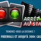 Promotion arrêt au stand sur PMU Poker