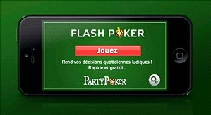 Une application flash sympathique sur Party Poker