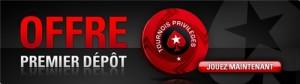 Offre premier depot de Pokerstars