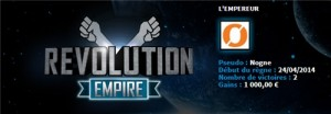 Revolution Empire sur Winamax